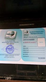 Carte Adhérent AGECT-CI
