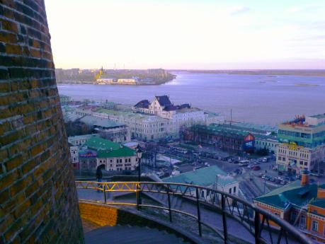 Strelka  view from Kremlin